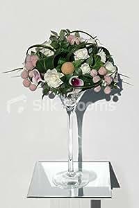 Violet Vermeer Lily Rose, ivoire et Craspedia de mariage Vase d'affichage