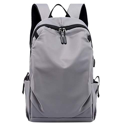 Uomogo zaino con caricatore usb e cuffie e porta portatile unisex zainetto scuola media ragazza e ragazzo backpack per pc laptop scuola superiore