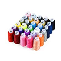 Candora 30 color sewing thread home family essential color line 250 Yards Polyester Thread (30pc)