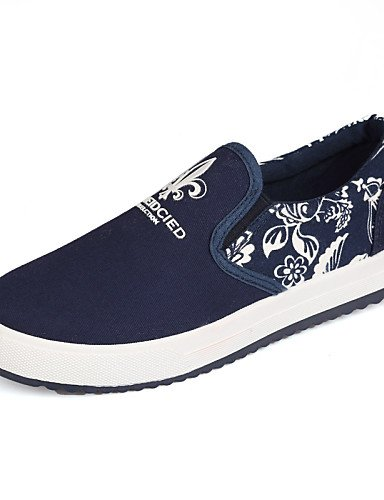 ZQ gyht Scarpe Donna - Mocassini - Tempo libero / Casual - Punta arrotondata - Piatto - Finta pelle - Nero / Blu / Rosso , blue-us8 / eu39 / uk6 / cn39 , blue-us8 / eu39 / uk6 / cn39 blue-us5.5 / eu36 / uk3.5 / cn35