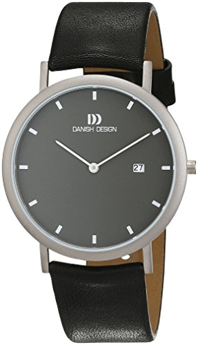 Danish Design Men's Quartz Watch with Grey Dial Analogue Display and Leather Black - IQ13Q881