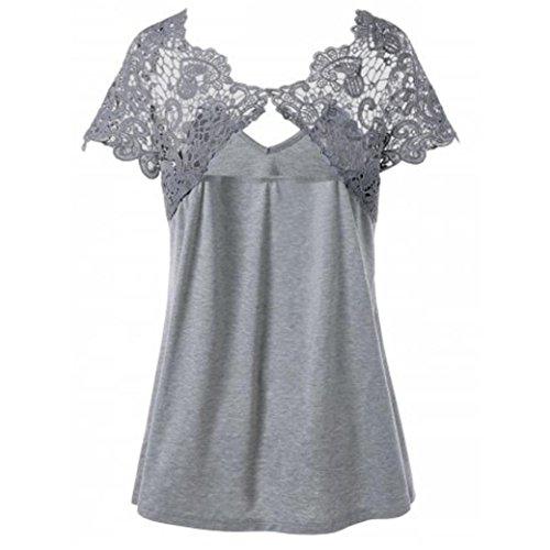 SANFASHION Jumpsuit Damen Sommer Fashion V-Ausschnitt Plus Size -
