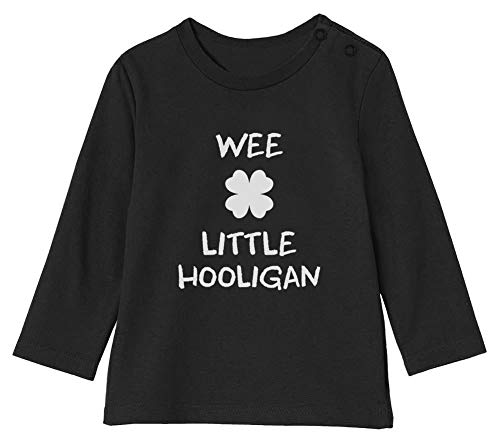 Green Turtle St Patrick Wee Little Hooligan Irish Funny T-Shirt Bébé Unisex Manches Longues 12-18M 76/89cm Noir