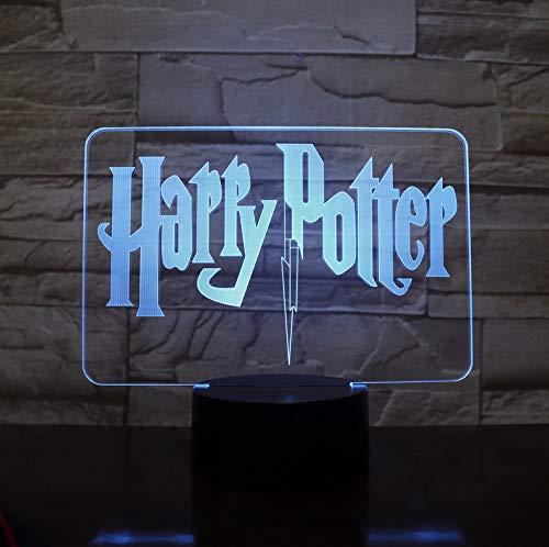 Harri Potter 3D Led 7 Farben Ändern Nachtlicht Schlafzimmer Lampe Wohnkultur Kind Kind Spielzeug Weihnachten Halloween Film Fans Geschenk