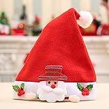 HPEDFTVC 4 Stück Weihnachten Hüte Dekoration Cartoon Elch Bär Schneemann Weihnachtsmann Urlaub Hüte Weihnachten Modisches Design Caps für Kinder, Deep Sapphire