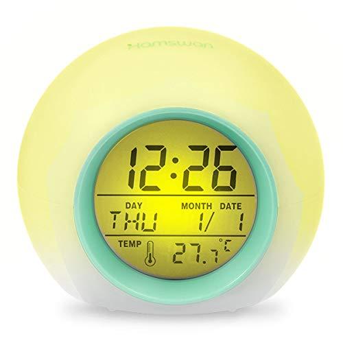 HAMSWAN Despertadores, [Regalos] Reloi Alarma, Clock, Despertadores Cambiado Entre 7 Colores con...