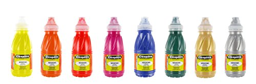 Cleopatre - PGN250X8B - Pack de 8 frascos de pintura guache, colores secundarios, 250 ml par  Colles Cleopatre