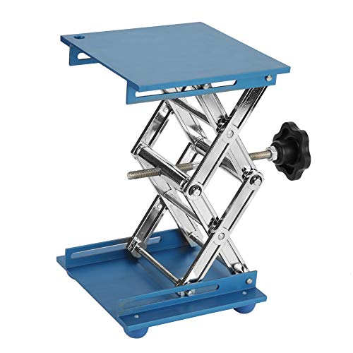 Akozon 5.9x5.9 Scientific Lab Labor Scissor Jack, Aluminium Oxide Lab Hebebühne Ständer Rack Scissor Lab-Lift Lifter Für Graviermaschine