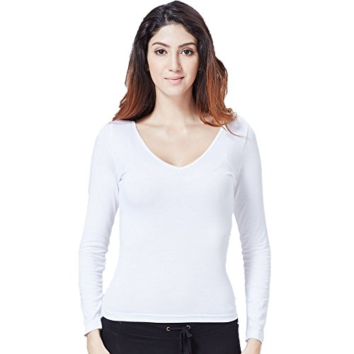 Greatrees - T-shirt - Manches Longues - Femme Taille Unique F-White