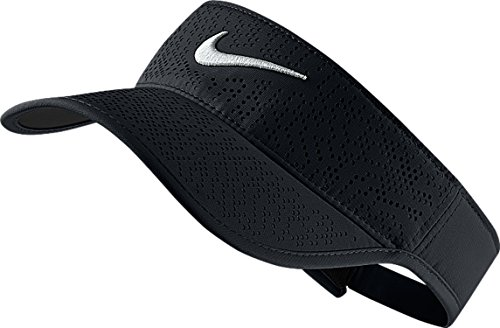 Nike Damen Golf-Visor Tech, black/white, One Size, 742709-010 (Nike Damen Golf-bekleidung)