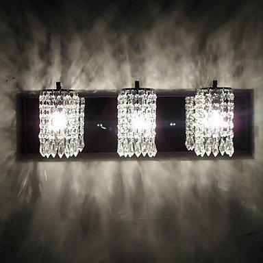 XXTT- 180W applique da parete moderna con 3 Luce e pendagli in cristallo in rilievo , 220-240V