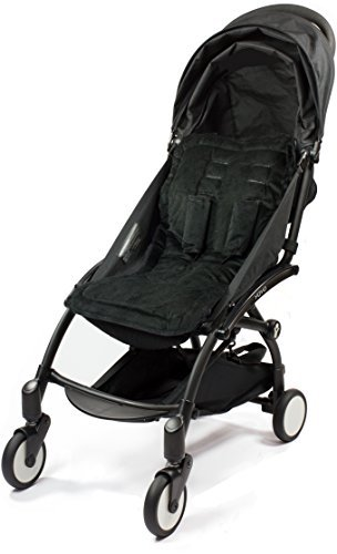 CHOOPIE STROLLER SEAT LINER  CITYLINER BABY STROLLER CUSHION PAD  JUST BLACK BY CHOOPIE
