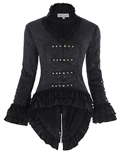 Retro Jacket Ladies Gothic Jacquard Jacket Corset victoriano L BP223-1