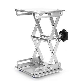Akozon Labor Hebeplattform 5.9x5.9 Scientific Labor Scissor Jack, Edelstahl Lab Hebe Plattform Ständer Rack Scissor Lab-Lift Lifter Für Graviermaschine