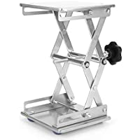 Plataforma Lab, Akozon 5.9x5.9x9.8'' Scientific Lab Laboratory Scissor Jack, Plataforma de elevación de laboratorio de acero inoxidable Stand Rack Scissor Lab-Lift Lifter