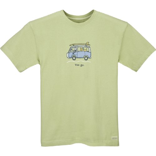 Life is Good Herren Crusher Surf Van Go T-Shirt Sprout Green
