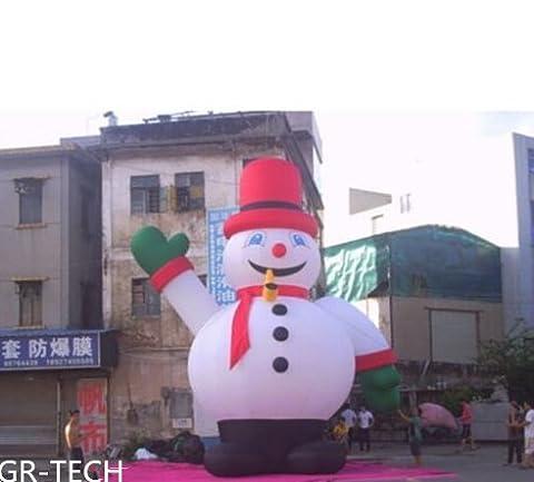 gr-tech Instrument® 26'Aufblasbarer Schneemann Weihnachten Urlaub Dekoration mit Gebläse 220V oder 110V