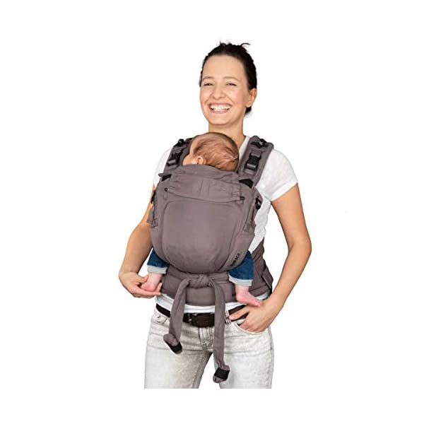 Hoppediz Nabaca Basic-Set, Classic, Grey Hoppediz Modular comfort carrier consisting of two shoulder straps, one hip belt and two carrier panels in sizes s and m The wide, padded shoulder straps and the hip belt are flexibly adjustable in different sizes and protect your neck and back. A detailed illustrated instruction manual (available in several languages) is enclosed. 1