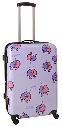 ed-heck-multi-love-birds-hardside-spinner-luggage-25-inch-light-purple-one-size