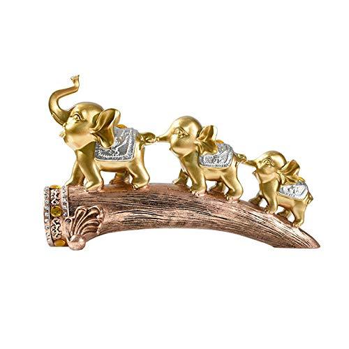 LPRWEC Gold Harz Kreative Skulptur Europäischen Elefanten Handmade Abstrakte Statue Home Office Dekor Raum Kabinett Handwerk Kunst Ornamente Retro Dekorative Skulptur Langlebige Skulptur Geschenk - Adler-raum-dekor