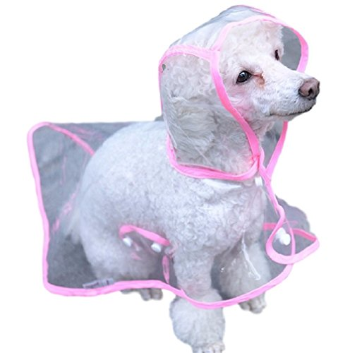 ducomi® dogalize-Typ Poncho Regenmantel mit Kapuze für Hunde - Kapuzen-typ