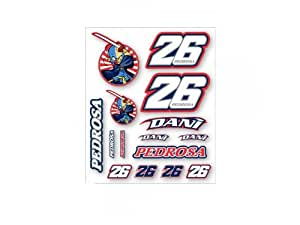 Officiel Dani Pedrosa 26 GP Moto autocollant définie grande