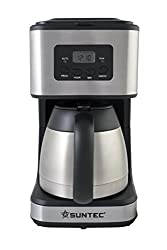 SUNTEC Filter-Kaffeemaschine KAM-8267 digital [Mit Timer-Programmierung + Anti-Tropf-Feature, Edelstahl-Thermoskanne (1 l), max. 900 Watt]