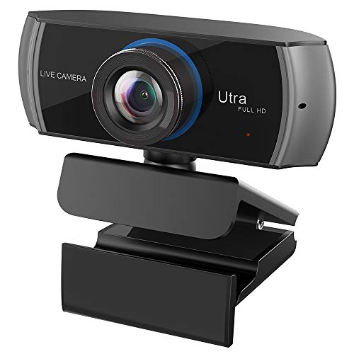 Webcam Full HD 1080P / 1536P Computer Kamera Breitbild Videotelefonie und Aufzeichnung, digitale Webcam mit Mikrofon, Streaming Kamera für Kompatibel mit Windows, Mac und Android