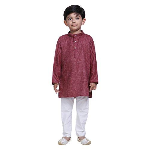 Littly Khadi Style Ethnic Wear Kids Cotton Kurta Pyjama Set For Baby...