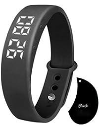 Black : Hunpta W5 Pedometer Sleep Monitor Temperature Bracelet Smart Watch