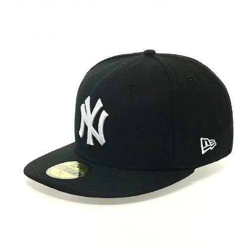 New Era MLB Basic NY Yankees 59Fifty Fitted - Casquette De Baseball - Homme Multicolore (Black & White)