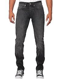ENZO hommes Skinny fin extensible compatible avec noir lavage JEANS jeans tailles 28-42