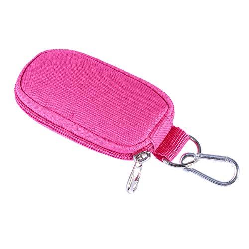 Étui de transport portable pour huiles essentielles de 2 ml - Pour le voyage et la maison - Fermeture éclair robuste - Rouge rose