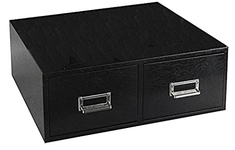 Buddy Products 2 Drawer Card File, Steel, 5 x 8 Inches, Black (1658-4) by Buddy Products