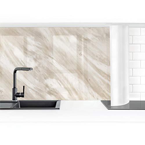Bilderwelten Küchenrückwand Folie selbstklebend Palissandro Marmor Beige 50 x 100 cm Premium