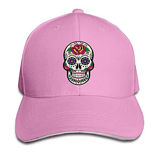 Presock Prämie Unisex Kappe Giant Sugar Skulls Adult Adjustable Snapback Hats Peaked Cap