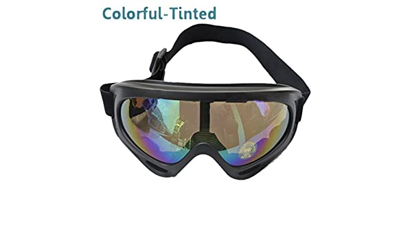 d8f8b05bb9 Buy TOOGOO(R) UV400 Ski Snowboard Goggle SnowMobile Motorcycle Eyewear  Protective Glasses Lens - Colorful Online at Low Prices in India - Amazon.in