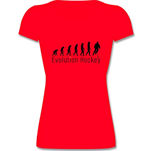 Evolution Kind - Evolution Hockey - 140 (9-11 Jahre) - Rot - F288K - Mädchen T-Shirt (Mädchen-hockey-t-shirts)