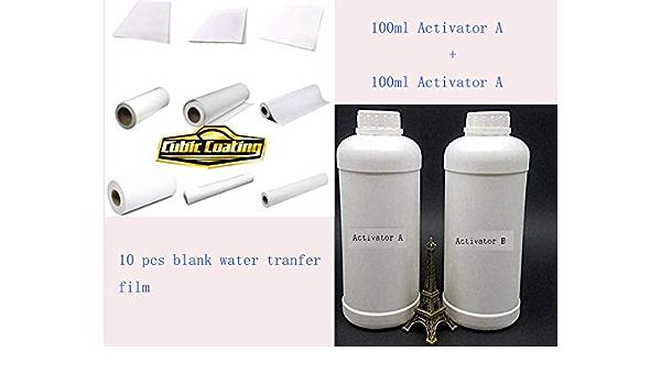 Hydrographics Film Blanko Wassertransferdruck 100 Ml Aktivator B 100 Ml Aktivator A 10 Stück Blanko Wassertransferfolie Baumarkt