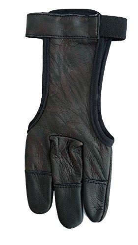 Schießhandschuh, Bogenhandschuh marmoriert Echtleder black.bulls von Halona (L)