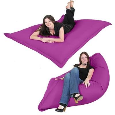 Gilda ® Massive Indoor/Outdoor Floor Cushion Bean Bag - Purple