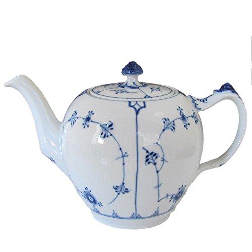 Royal Copenhagen - Musselmalet Gerippt Teekanne 1 l -