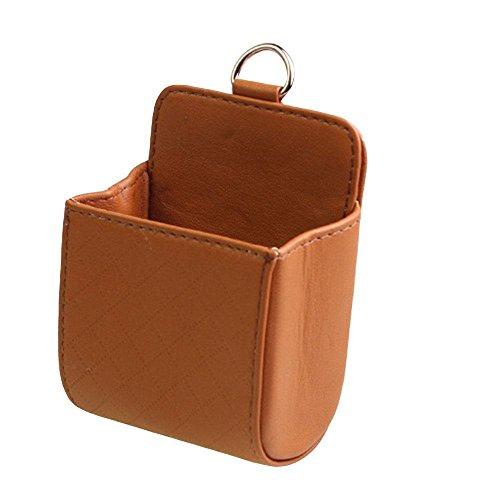Preisvergleich Produktbild Auto Sitz hängende Tasche Auto Steckdose Leder Ware Box Auto multifunktionale Handy Tasche Speicher Tasche Auto Lieferungen , brown , 8.5*10*5cm