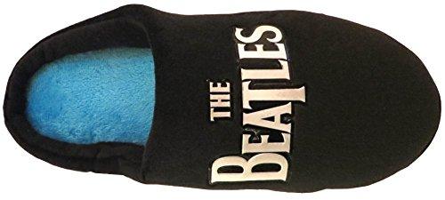 Beatles , Chaussons pour homme Noir - Negro - Silver Beatles Logo