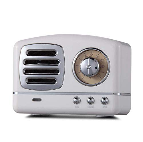 CE-LXYYD Mädchen Herz Retro Bluetooth Mini, U-Subwoofer, mit HD Sound und Bass, 6H Playtime, eingebautes Mikrofon,White