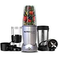 NutriBullet 1200 Series Blender with Smart Technology and Stainless Steel Mug, 1200W, 12pc set,Silver