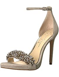 Jessica Simpson Women's Rusley Heeled Sandal, Warm Stone, 5.5 Medium US