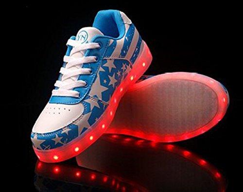 [Présents:petite serviette]JUNGLEST® - 7 Couleur Mode Unisexe Homme Femme Fille USB Charge LED Chaussures Lumière Lumineux Clignotants Chaussures de marche Haut-Dessus LED Ch c17