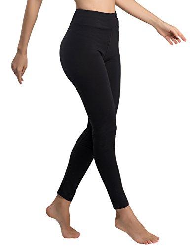 Leggings, Yoga Hose Pants Neunten hohen Taille Radfahren Camping Running Jogging Strumpfhosen S, M, L, XL, XXL (36, Schwarz) ()