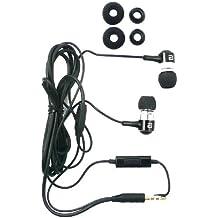 Langston ® Metal Negro Earbuds Sonido De Alta Definición En La Oreja Auriculares Manos Libres Estéreo Con Micrófono Adecuada Para Motorola Moto